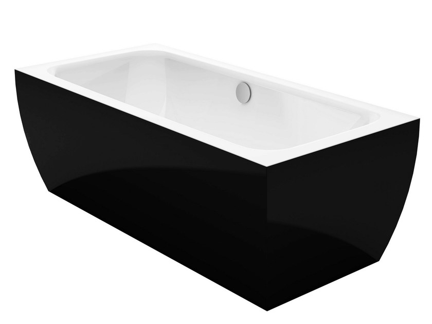 Freestanding rectangular bathtub BETTECUBO SILHOUETTE BiCOLOUR by Bette