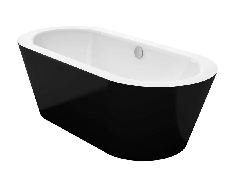 Freestanding bathtub BETTESTARLET OVAL SILHOUETTE BICOLOUR - Bette