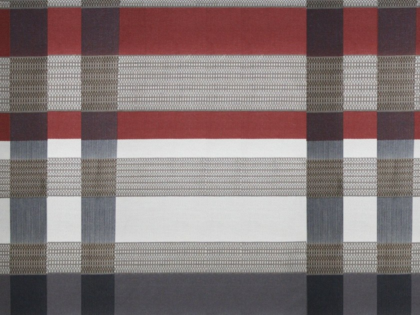 Jacquard cotton fabric GLAM RODEO CHECK - KOHRO