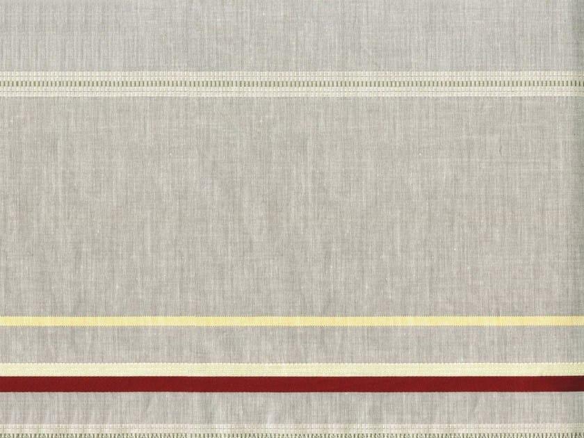 Striped jacquard cotton fabric LONE STAR - KOHRO