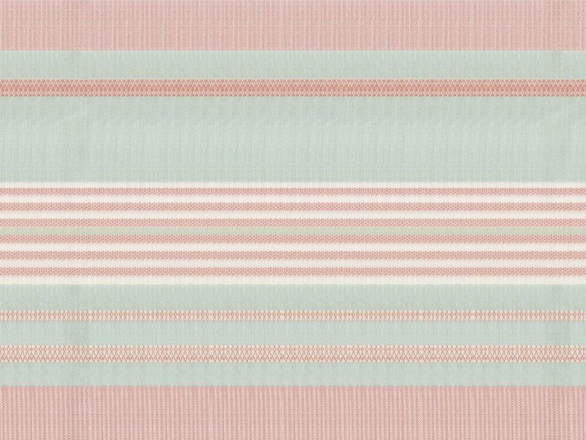 Striped washable cotton fabric SORBETTO - KOHRO