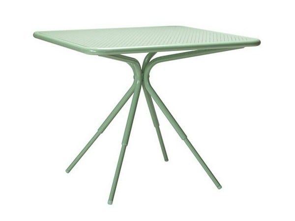 Square aluminium garden table GRASSHOPPER | Square table - Tectona