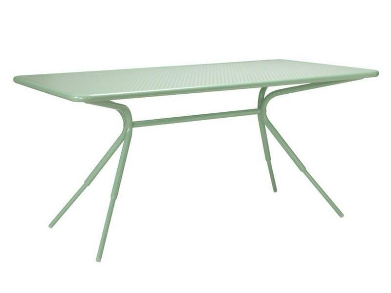 Rectangular aluminium garden table GRASSHOPPER | Rectangular table - Tectona