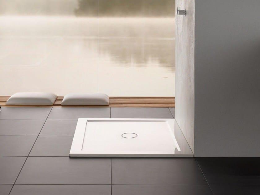 Square enamelled steel shower tray BETTEONE   Shower tray - Bette