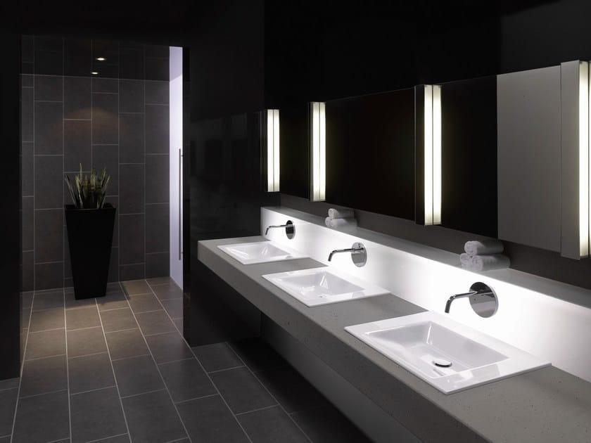 Lavabo rettangolare in acciaio smaltato betteaqua lavabo da incasso soprapiano bette - Lavabi bagno da incasso ...
