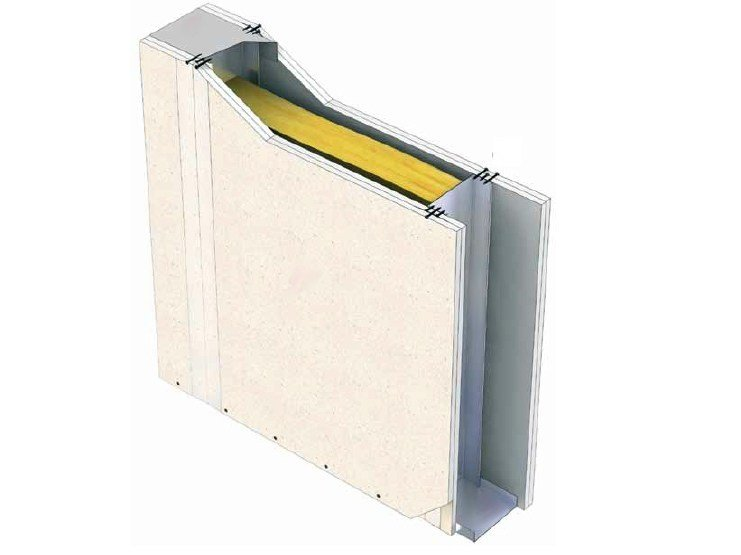 Fireproof gypsum plasterboard for partition walls PregyIndustry - Siniat