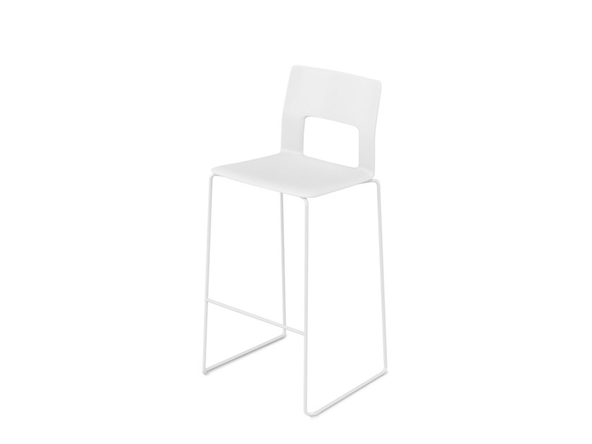 Counter stool with footrest KOBE | Counter stool - Desalto