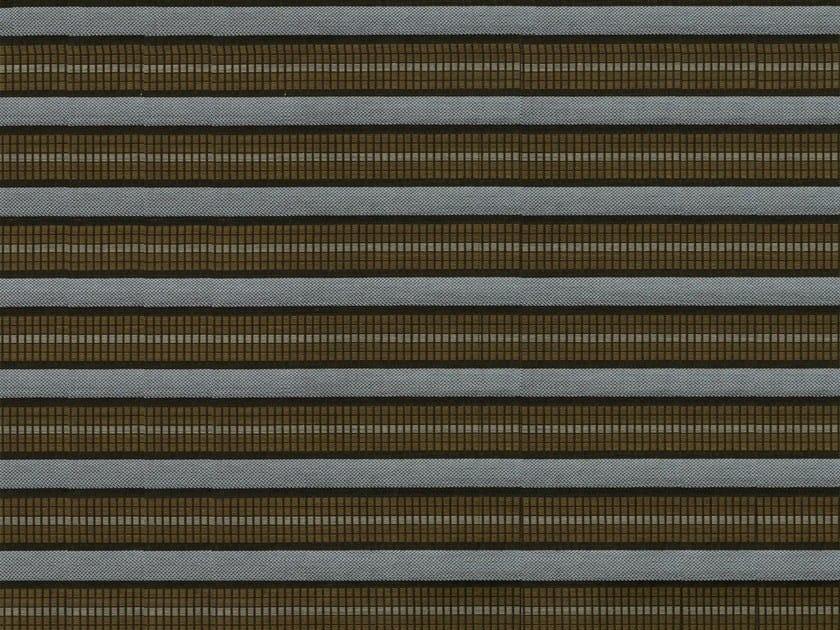 Striped washable cotton fabric IGUANA - KOHRO