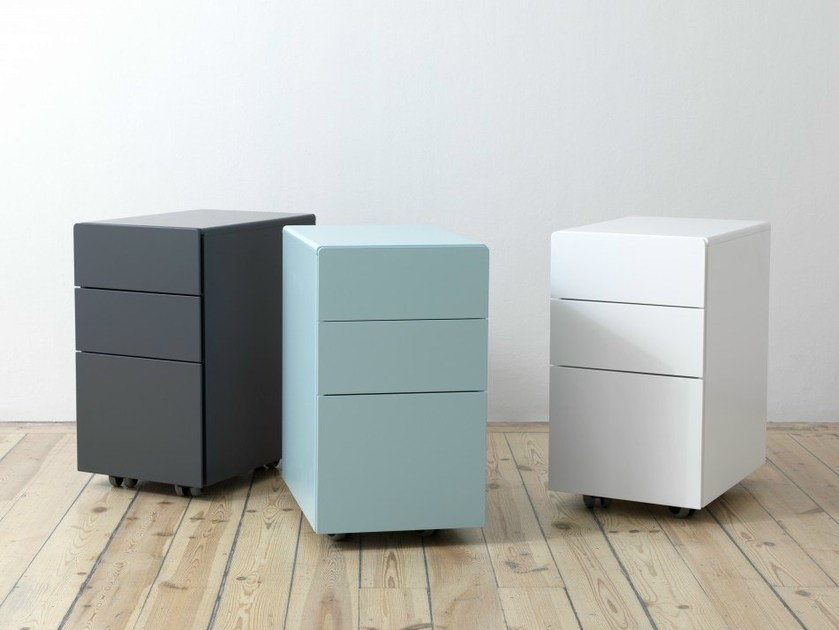 Office drawer unit with casters OVERTIME | Office drawer unit - Abstracta