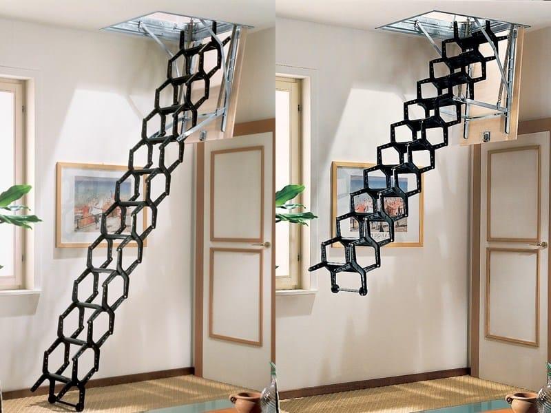 escalier escamotable adj by rintal. Black Bedroom Furniture Sets. Home Design Ideas