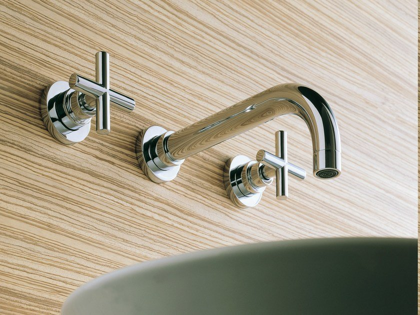 Wall-mounted chrome-plated washbasin tap SPRING | Wall-mounted washbasin tap - Carlo Nobili Rubinetterie