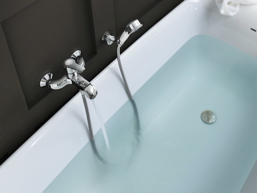 Wall-mounted chrome-plated single handle bathtub mixer SOFÌ | Bathtub mixer - Carlo Nobili Rubinetterie