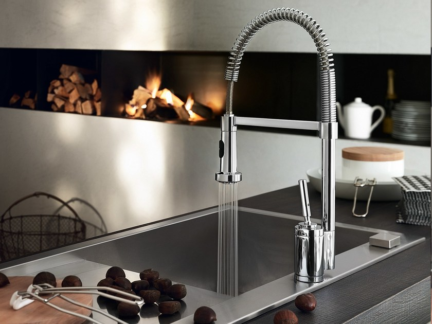 Chrome-plated 1 hole kitchen mixer tap BILLY | Kitchen mixer tap - Carlo Nobili Rubinetterie