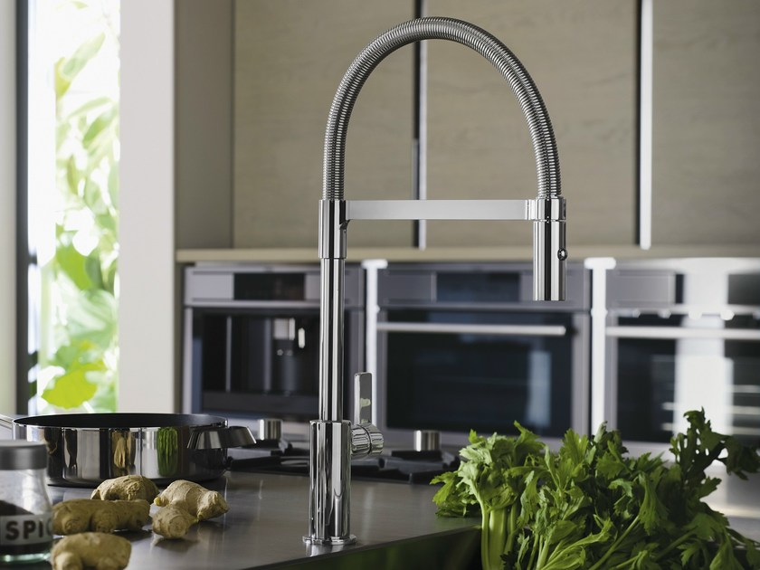 Chrome-plated 1 hole kitchen mixer tap FLAG | Chrome-plated kitchen mixer tap - Carlo Nobili Rubinetterie