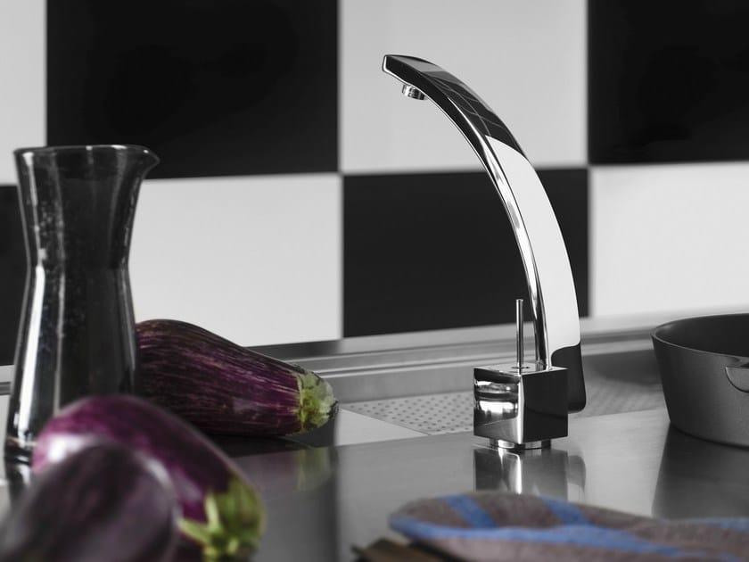 Chrome-plated 1 hole kitchen mixer tap ROXY   Kitchen mixer tap - Carlo Nobili Rubinetterie
