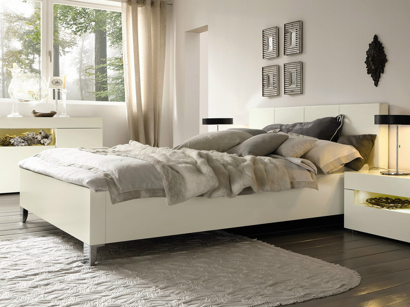 Lacquered double bed ELUMO II | Lacquered bed - Hülsta-Werke Hüls