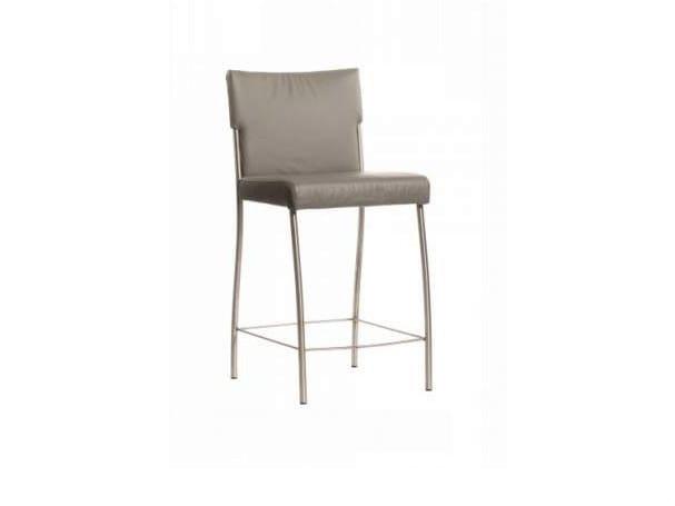 Upholstered leather counter stool MONET   Counter stool - Joli
