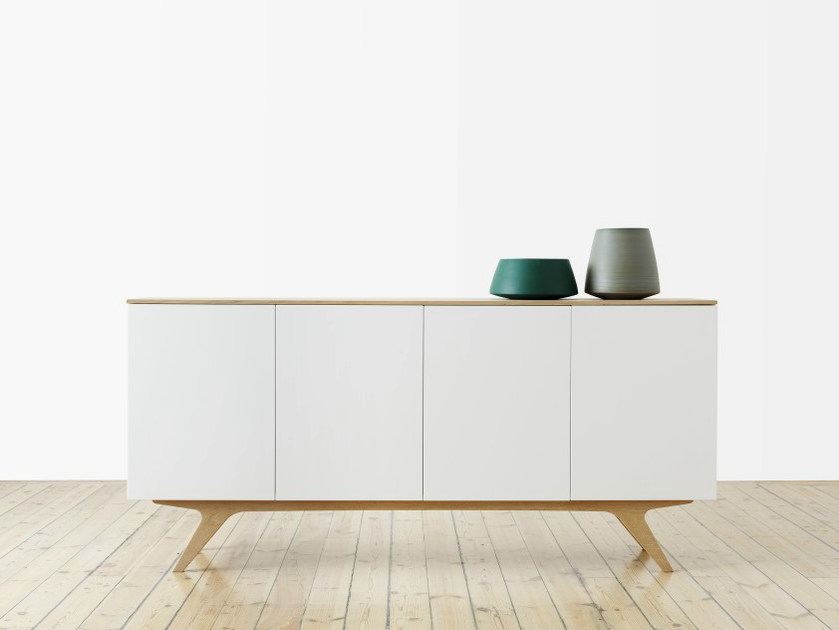 Lacquered sideboard with doors ARTIC | Sideboard - Abstracta