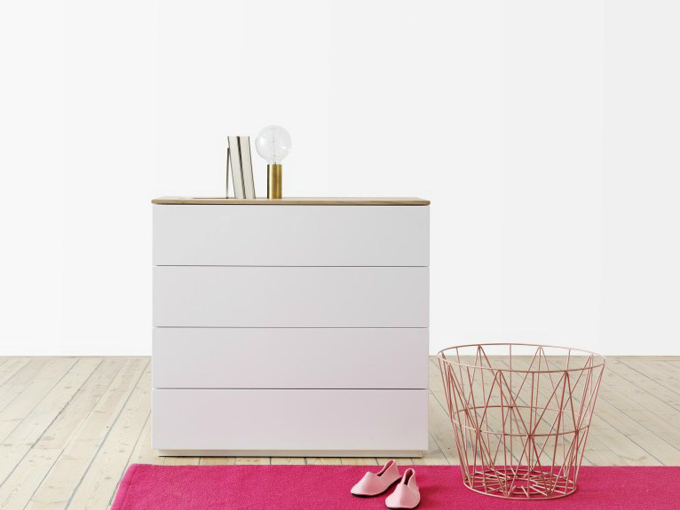 Lacquered chest of drawers ARTIC | Chest of drawers - Abstracta
