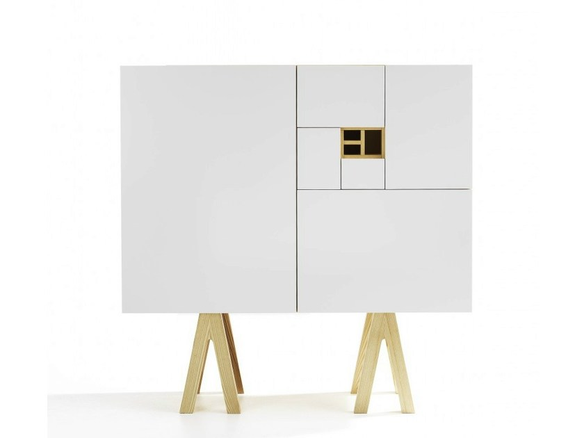 Lacquered highboard with doors NO.216 | Highboard - Abstracta