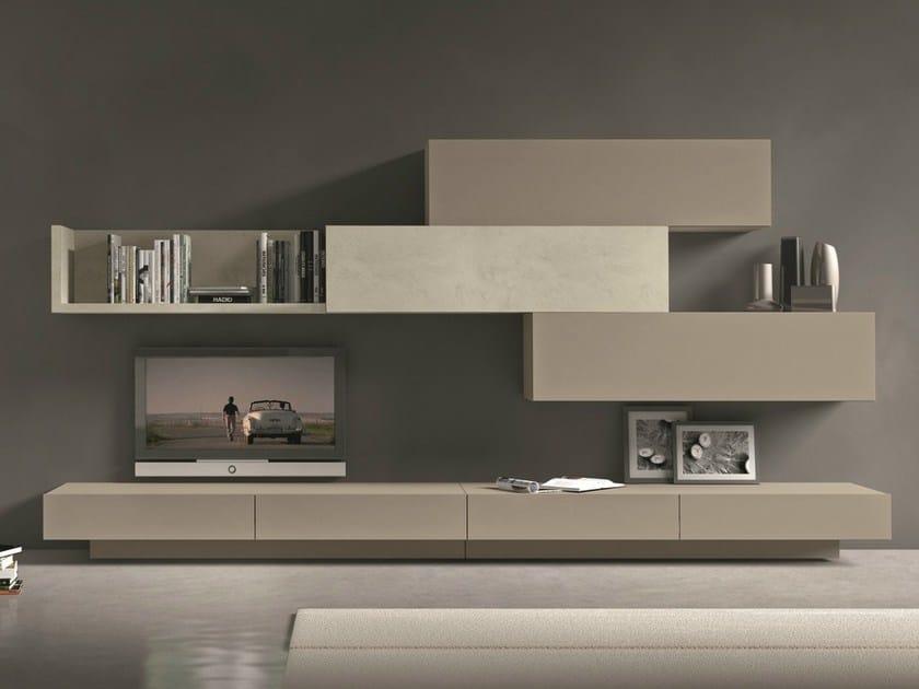 parete tv componibile classica : Parete attrezzata componibile fissata a muro con porta tv I-modulArt ...