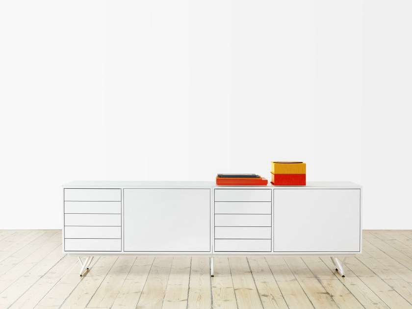 Lacquered sideboard with doors NO.5 | Sideboard by Abstracta