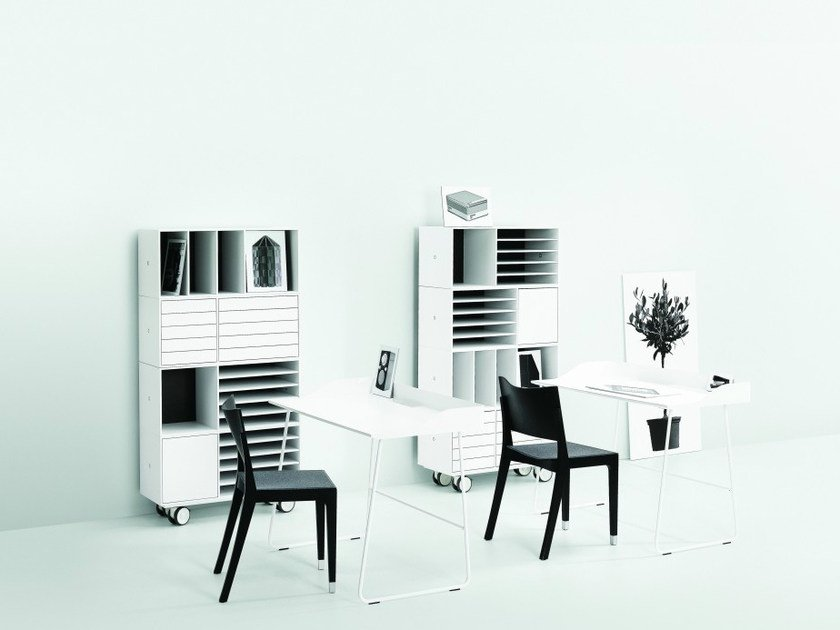 Lacquered modular office storage unit NO.5 | Office storage unit by Abstracta