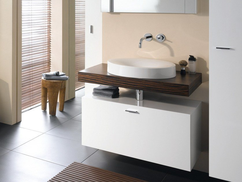 Countertop round semi-inset enamelled steel washbasin BETTEBOWL ROUND | Countertop washbasin - Bette