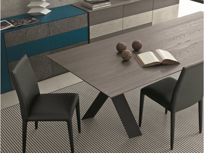 Extending rectangular oak table TAILOR | Oak table - Presotto Industrie Mobili