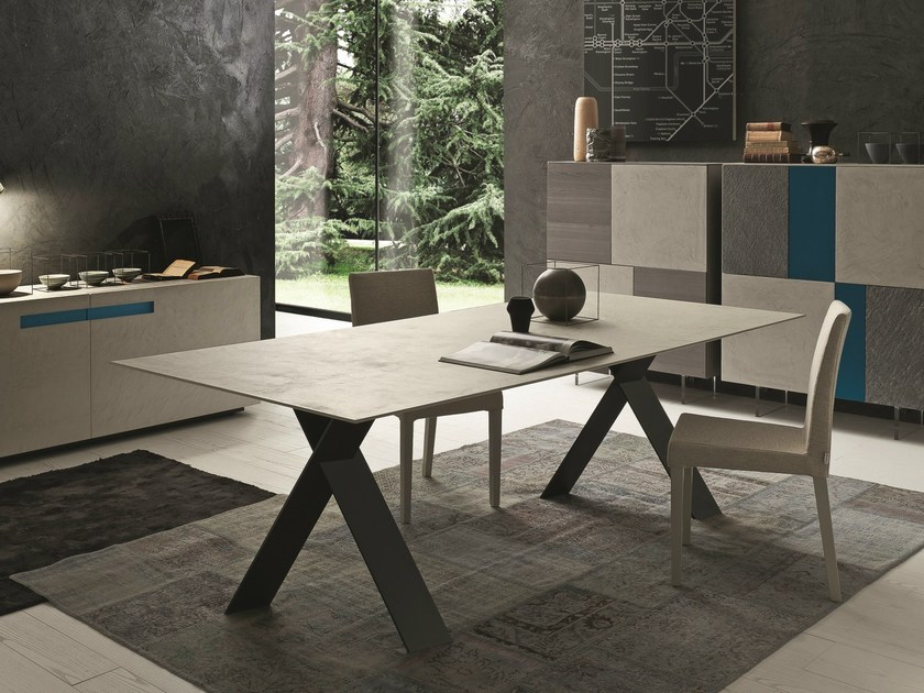 Extending rectangular ecomalta table TAILOR | Ecomalta table - Presotto Industrie Mobili