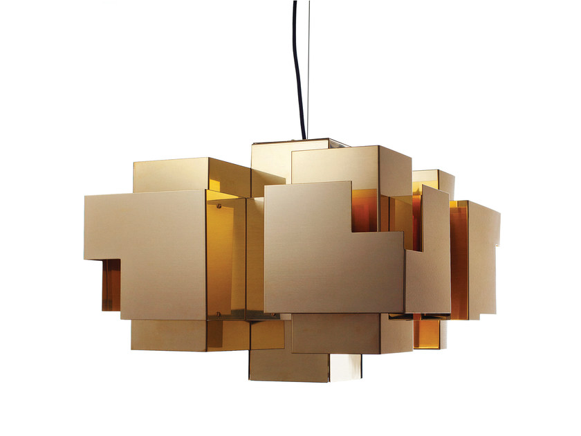 Brass pendant lamp SKYLINE | Pendant lamp by Örsjö Belysning