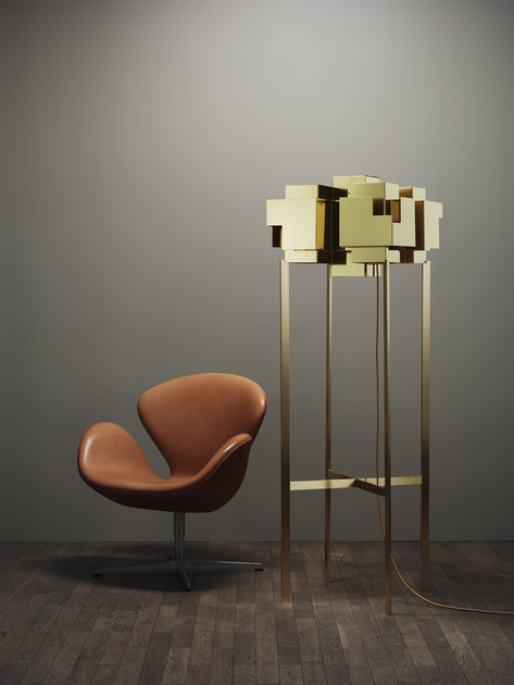 Brass floor lamp SKYLINE | Floor lamp - Örsjö Belysning