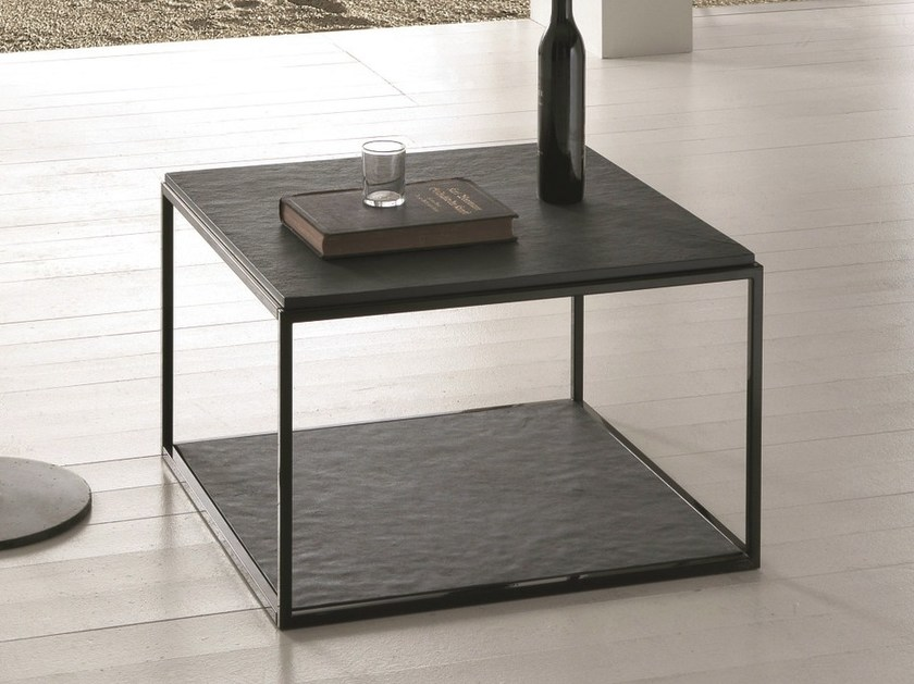 Low square coffee table EOLO | Low coffee table - Presotto Industrie Mobili