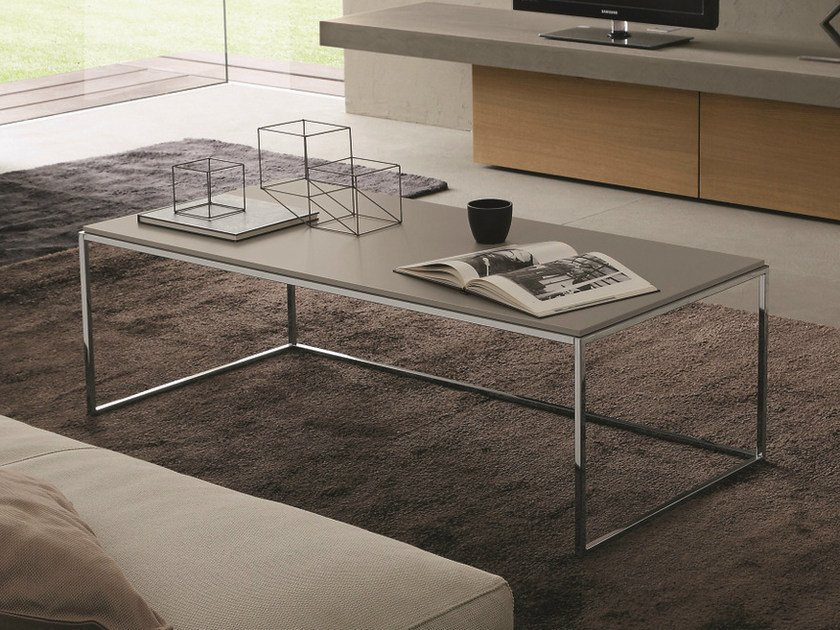 Low rectangular coffee table BASIC | Low coffee table by Presotto