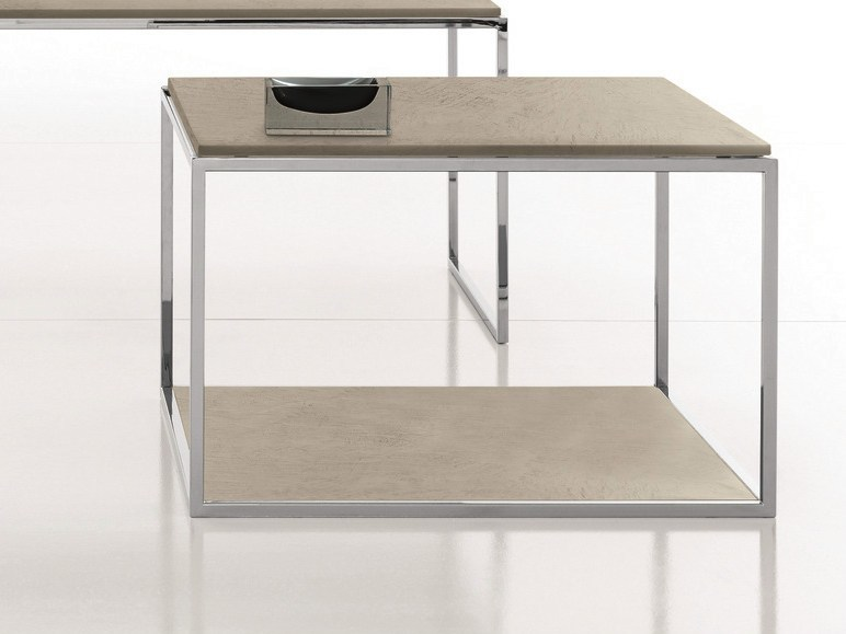 Low square coffee table EOLO - Presotto Industrie Mobili