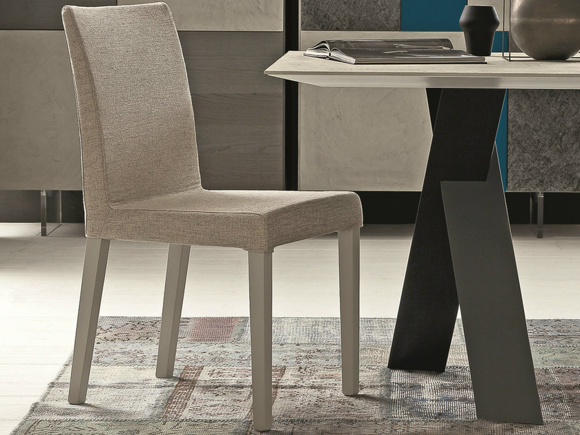 Upholstered fabric chair with removable cover FLEX - Presotto Industrie Mobili