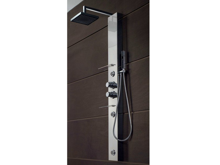 Hydromassage multifunction shower panel BRIDGE | Shower panel by Gruppo Geromin