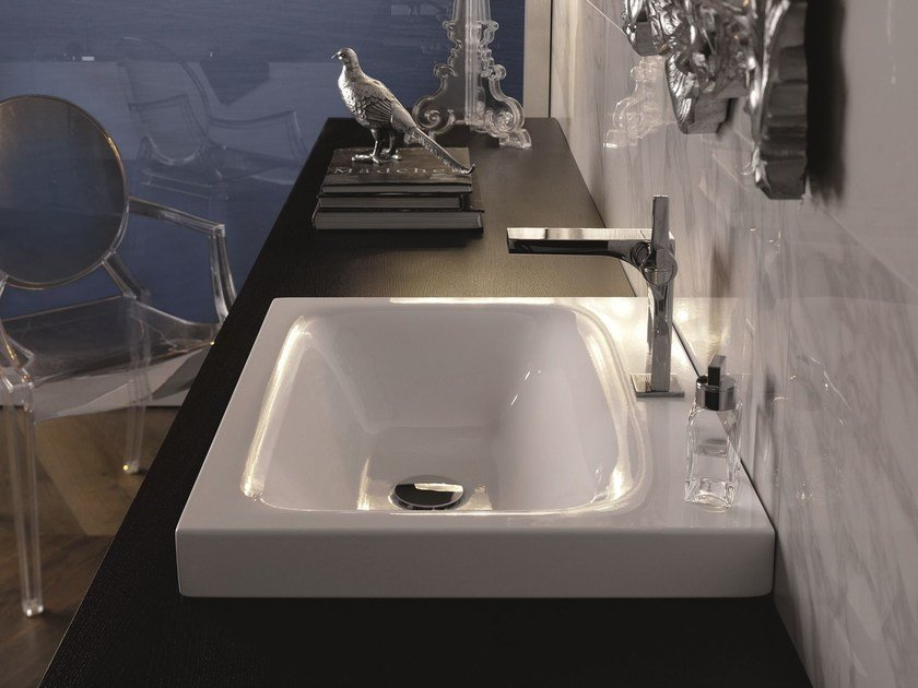 Countertop rectangular enamelled steel washbasin BETTELUX | Countertop washbasin by Bette