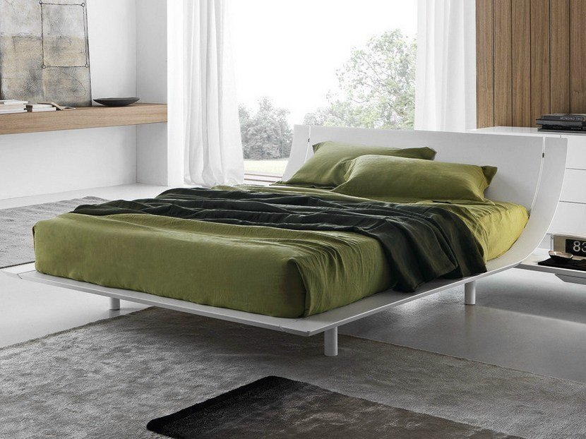 Lacquered double bed AQUA | Lacquered bed - Presotto Industrie Mobili