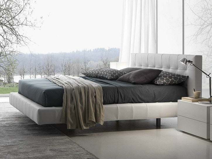 Upholstered double bed with tufted headboard OMEGA | Double bed by Presotto