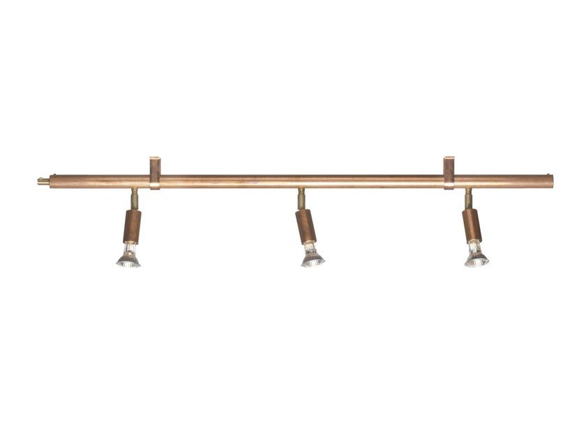 Adjustable copper track-light STAR 3 | Copper spotlight - Örsjö Belysning