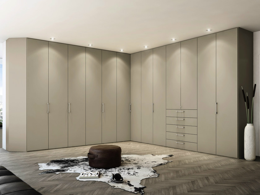 Corner lacquered wardrobe with drawers MULTI-FORMA II | Corner wardrobe - Hülsta-Werke Hüls