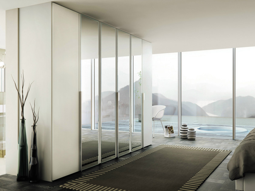 Lacquered mirrored wardrobe MULTI-FORMA II | Mirrored wardrobe - Hülsta-Werke Hüls