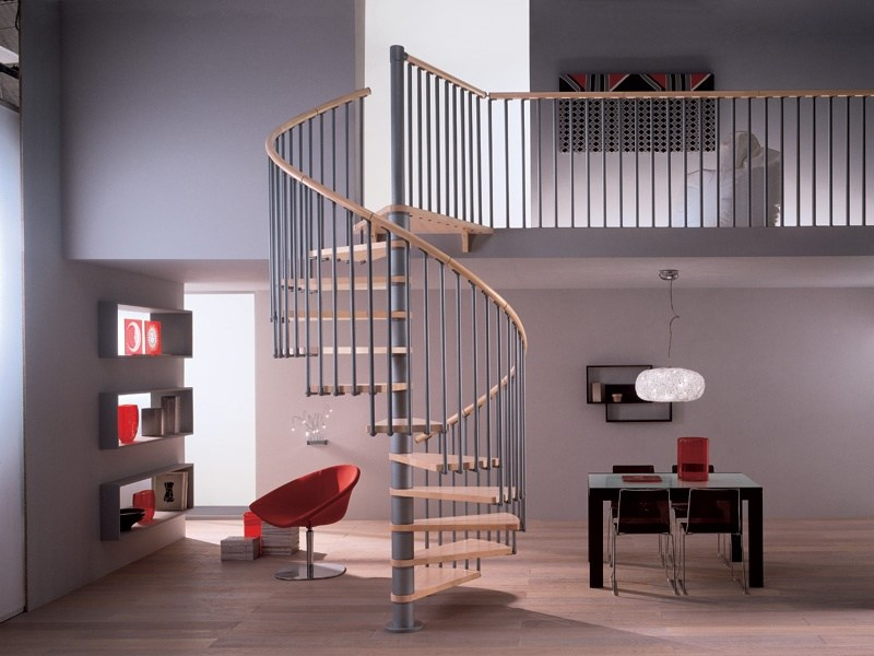 Wooden Spiral staircase PHOLA 06 - RINTAL