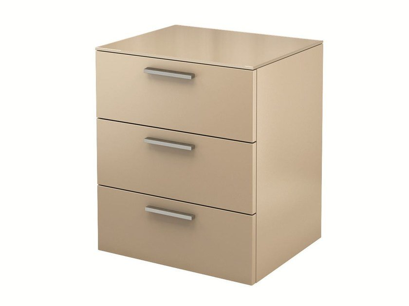 Lacquered bedside table with drawers MULTI-VARIS | Bedside table with drawers - Hülsta-Werke Hüls