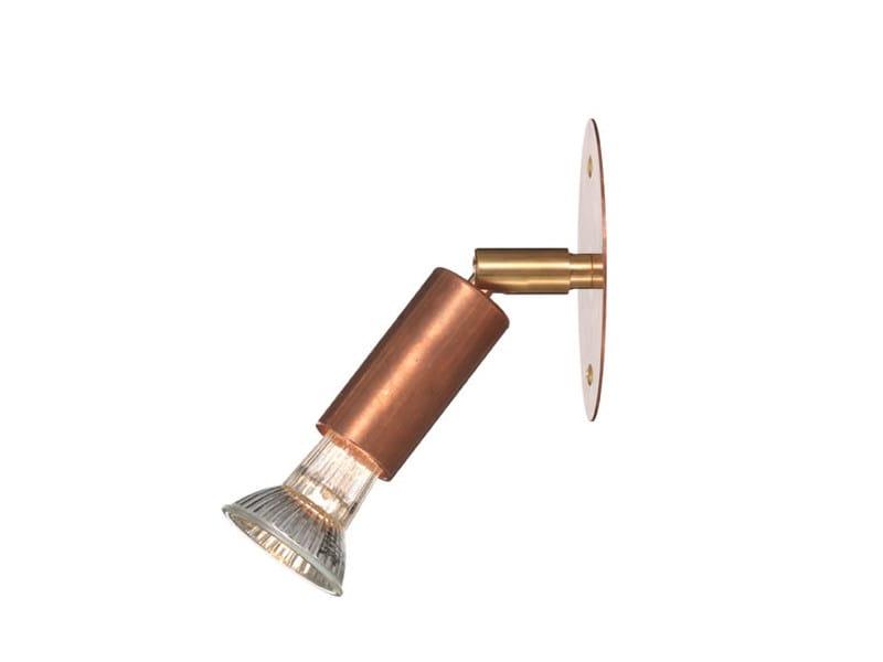 Wall-mounted adjustable copper spotlight STAR 1   Copper spotlight - Örsjö Belysning