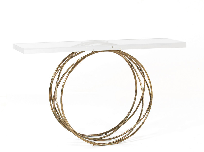 Rectangular acrylic console table HALO by Ginger & Jagger