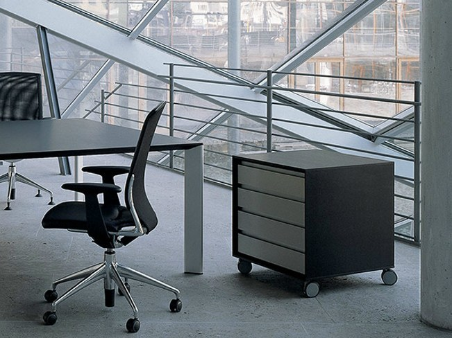 Wooden office drawer unit VERSO | Office drawer unit with casters - RENZ