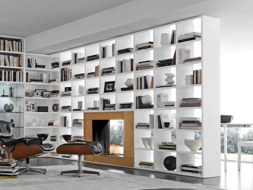 Open wall-mounted sectional bookcase Pari&Dispari - COMP 338 - Presotto Industrie Mobili