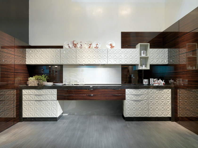 Lacquered linear kitchen DIAMOND SCRIGNO - Bizzotto